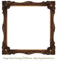 Elaborate Wood Scroll Frame 2 by EKDuncan by EveyD
