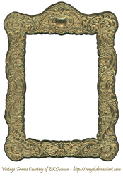 Floral Embossed Metal Frame Gold by EveyD