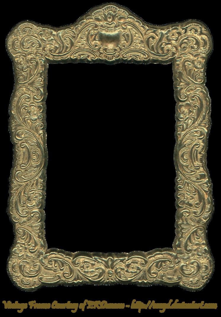 Floral Embossed Metal Frame Gold by EveyD