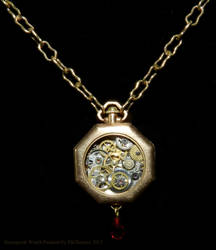 Ladies Steampunk Timepiece from Vintage Parts 2 by EveyD