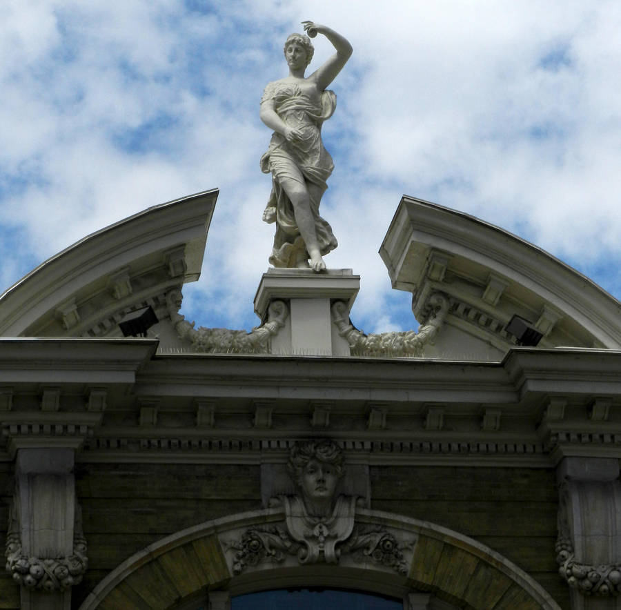 Carved Statue of Venus c1900 on Building by EveyD