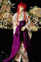 BJD Sokuto, White Sakura Kimono by InarisansCrafts