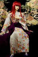 BJD Sokuto, White Kimono by InarisansCrafts