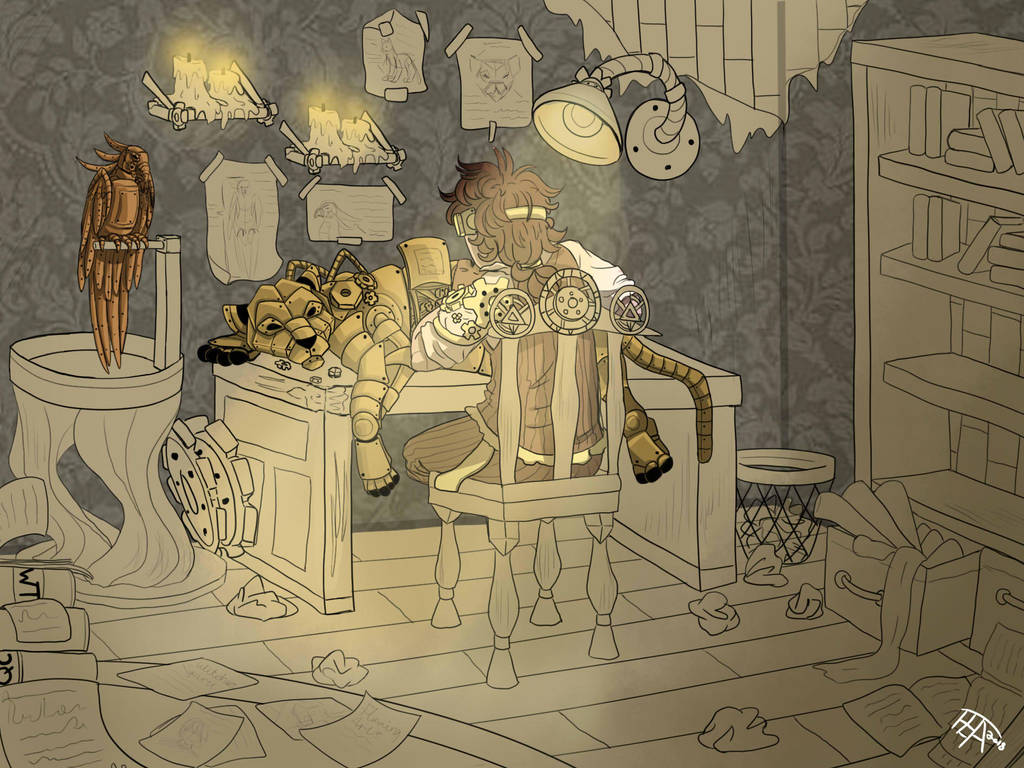 WT: Concept illustration, Steampunk by WildfireIllustration