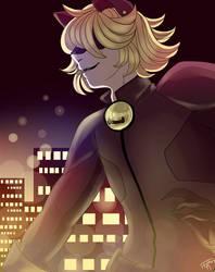 Fanart Friday #1: Miraculous Ladybug - Chat Noir by WildfireIllustration