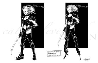 Cyborged Female by calebcleveland
