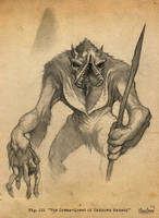 A gug, from H.P. Lovecraft by calebcleveland