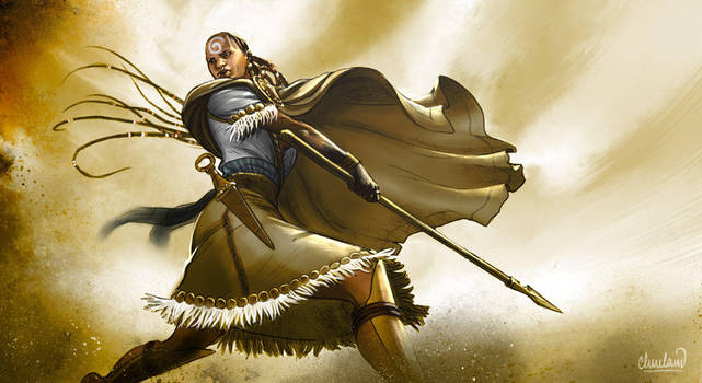 Whirling Female Rebel by calebcleveland