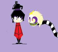 Lydia and Beetlejuice by CupcakeAIDS
