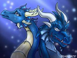 Gift Art Naia and Cotan by DragonCid