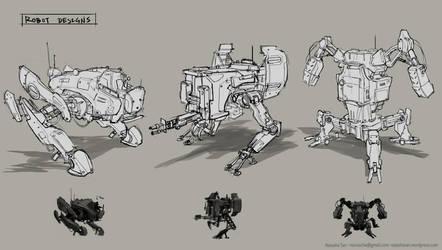 Robot Set by Darkhikarii