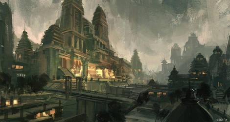 Temple by Darkhikarii