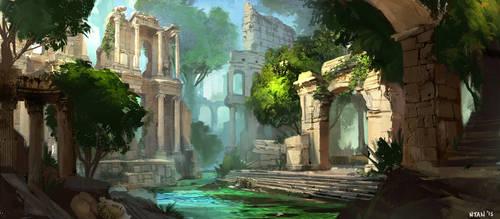 Ruins by Darkhikarii