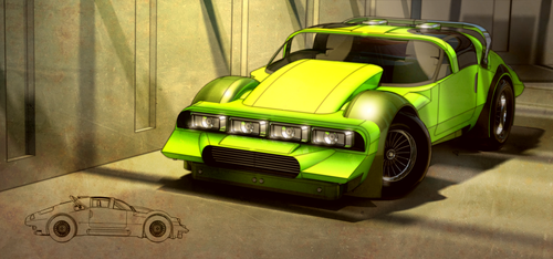 Green Machine front by aconnoll