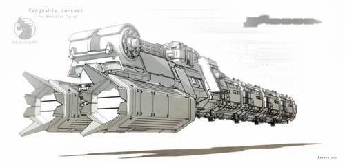 Cargoship (Draconian Comics) by aconnoll