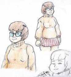 Velma Sketches by DinoDilopho
