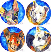 Pet Necklaces -COMMISSION- by ShanaPatry