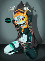Midna True Form Bound and Gagged- Commission by gaggeddude32