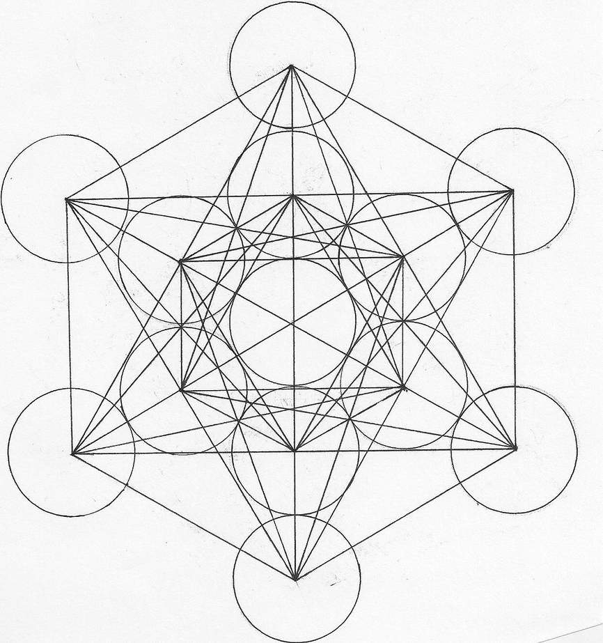 Metatron's Cube and Fruit of Life by pepperdeath