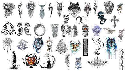 [Sairenix] MMD 4K Tattoo Pack [DL] by Sairenix