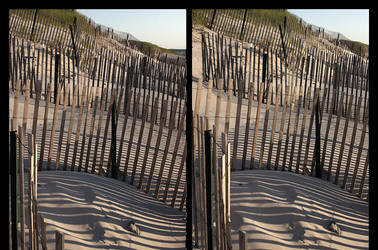 Storm Fence Shadows by Phostructor