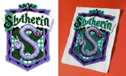 Slytherin Cross-Stitch by Cpresti