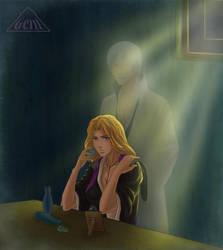 As if he is near.. by Genisc