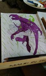 WIP Illidan (WOW Coloring Book) by WayaGirl09