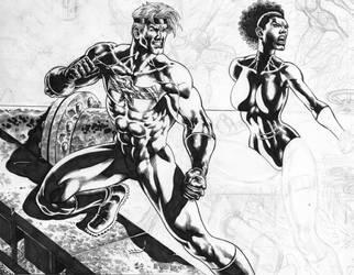 Cover for Argo Comics in progress. by Goldmanpenciler
