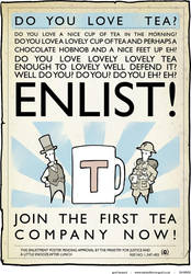 tea enlistment propaganda by fetishman