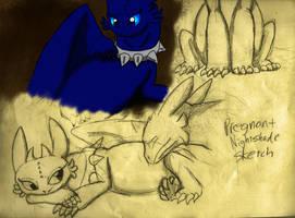 Pregnant Nightshade Sketch by DragonDogFilmsG