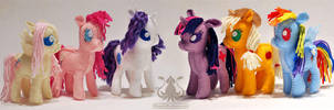Mane Six Petite Felt Plushies by NappinKraken