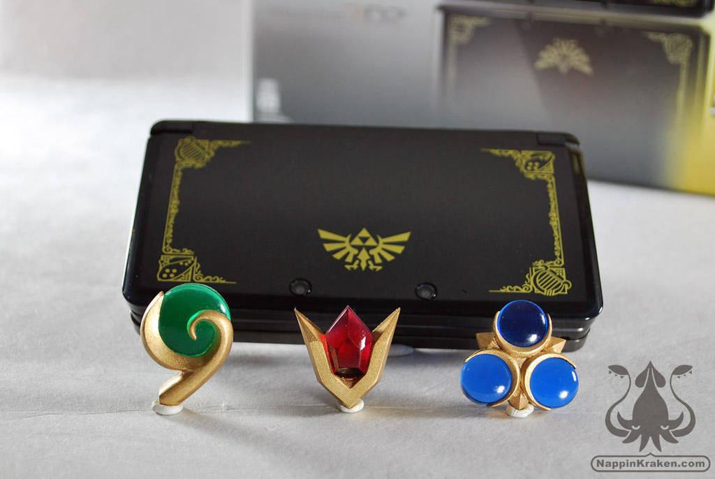 Legend of Zelda OOT 3DS Spiritual Stone Set by NappinKraken