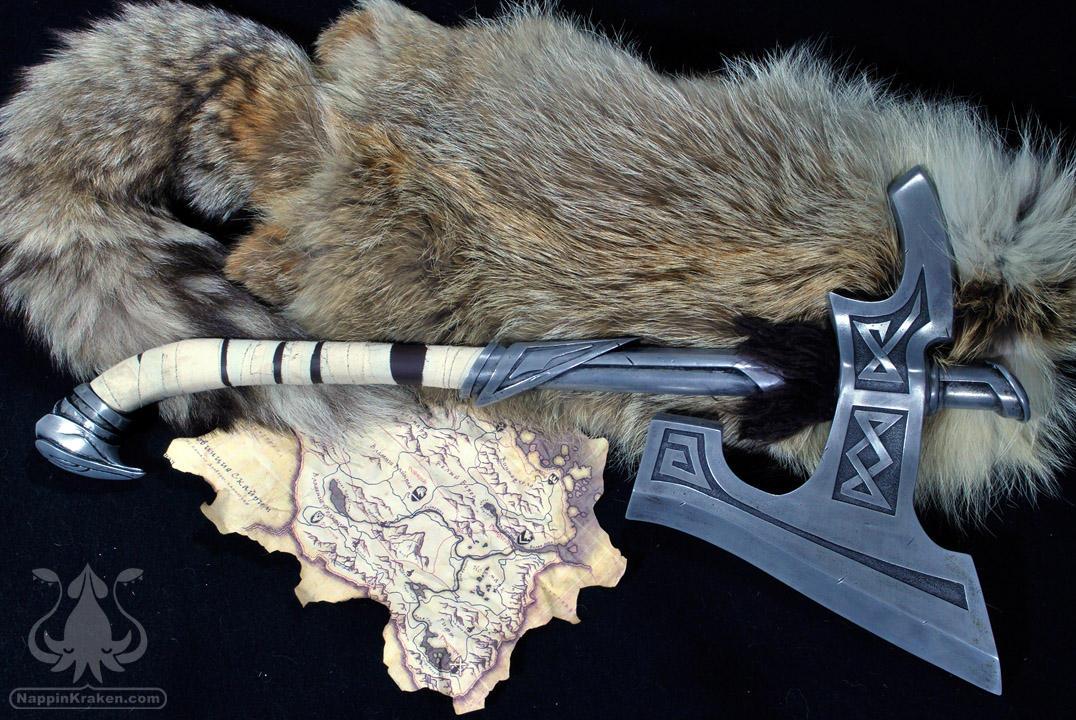 Skyrim Nordic War Axe by NappinKraken