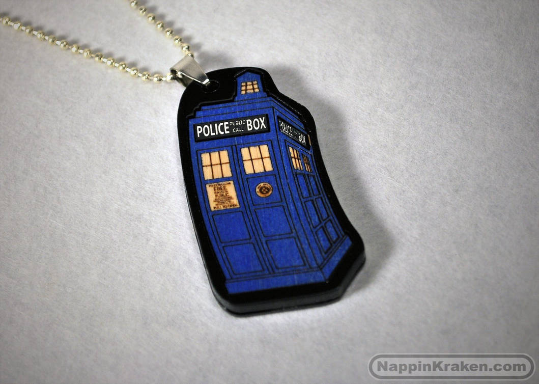 Tardis Pendant by NappinKraken