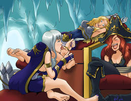 Ashe tortures her captives by Bad-Pierrot