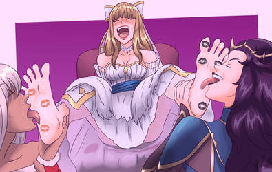 Bride Charlotte worship tickled by Bad-Pierrot