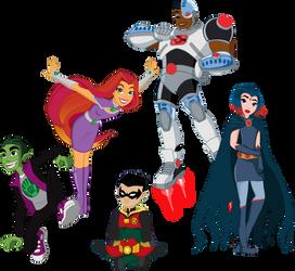 DCSHG - The Teen Titans by FigyaLova