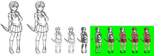 Madotsuki process by Oniika