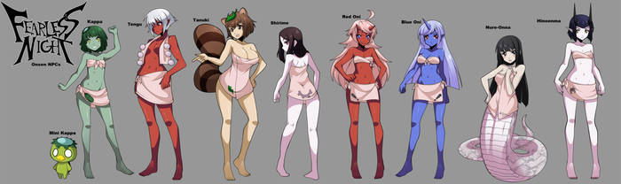 Kappa Onsen NPC concepts! by Oniika