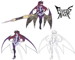 Hell Princess Early Concepts by Oniika