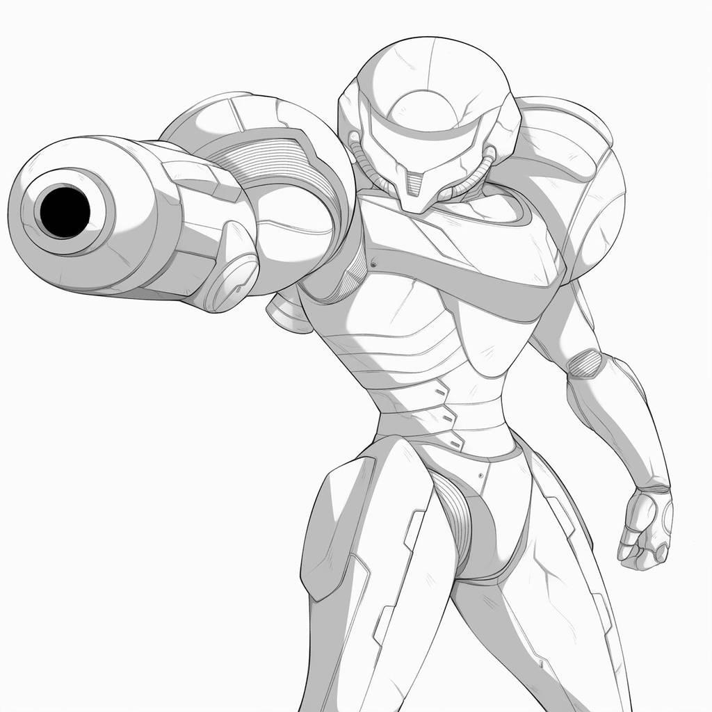 Samus Patreon Sketch A by Oniika
