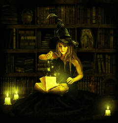 Book of spells by ArtbyValerie