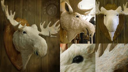 Winter Moose by Nymla