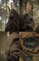 Creepy Rabbit Mask Closeup by Nymla