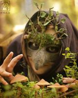 Mossy Mask n Mushrooms by Nymla