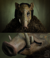 Boar Mask Spirit Animal #1 by Nymla
