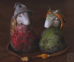 Forest Trolls: Glissa and Oyvind by Nymla