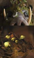 Glowing mushroom mask Sneakpeek! by Nymla