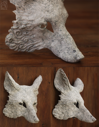 DIY Blank fox masks - paint your own fox. by Nymla